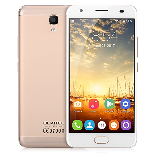 OUKITEL K6000 Plus - 4G Smartphone ohne Vertrag (5.5 Zoll, Android 7.0, 1.5GHz MT6750T Quad-core, 4GB RAM 64GB ROM, 6080mAh, Fingerprintsensor ID, Dual SIM, Dual Kamera)