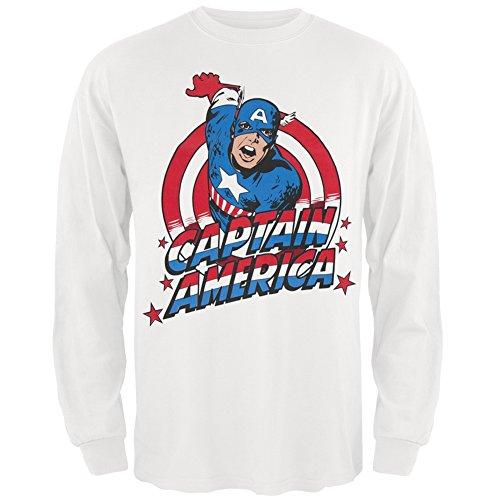 Captain americaHerren T-Shirt Weiß Weiß