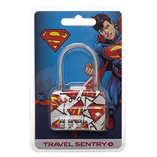 DC Comics Superman TSA Approved Travel Luggage Cable Lock by Bioworld