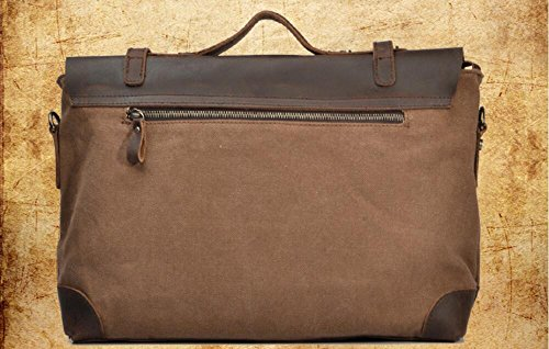 Aktentasche Schultertasche canvas Single Mann Tasche Business Freizeitaktivitäten Portable Messenger Bag Tasche für Macbook Notebook Reisen Urlaub Wochenende wandern Camping Kaffee uB7BU