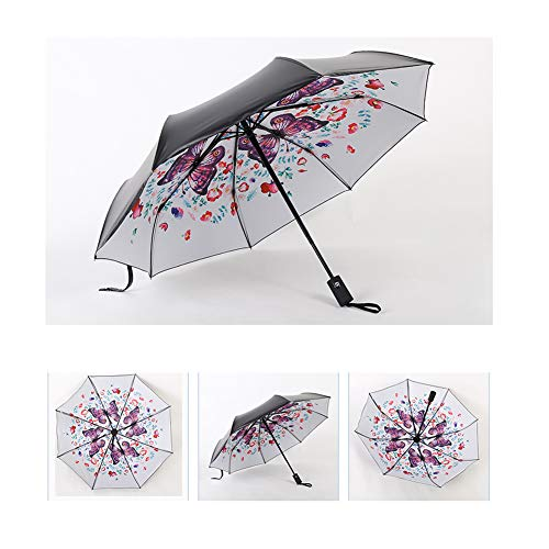 628336889b31 ROM Windproof Umbrella Automatic Open Stormproof Classic Lightweight  Waterproof Durable Strong for Rain and Sunny Days Men Women(Butterfly),b
