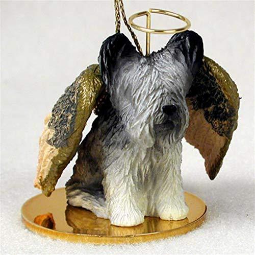 (Ky & Co YesKela Skye Terrier Ornament Angel Figurine Hand Painted)