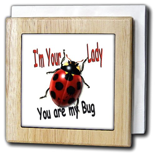 レディースユーモア – I M Your Lady You Are Myバグ – タイルナプキンホルダー 6 inch tile napkin holder nh_1324_1 6 inch tile napkin holder  B000MBO01W