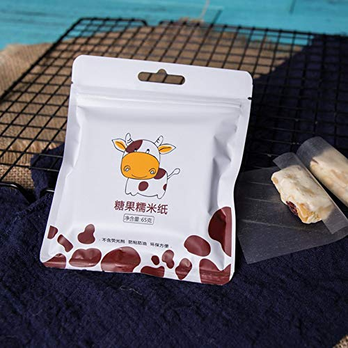 HibiscusElla 500 Sheets Nougat Wrapping Paper Edible Glutinous Rice Paper Baking Paper