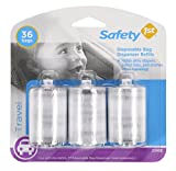 Safety 1st Disposable Diaper Bags Refill Rolls (3pk), Clear