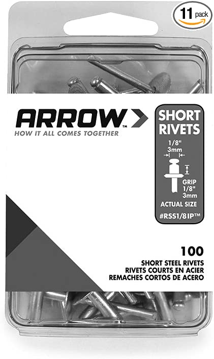 40-Pack Arrow Fastener WS1//8 1//8-Inch Steel Washers