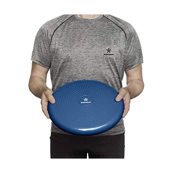 BODYMATE Coussin d'équilibre Ø34cm + Pompe – Coussin Gonflable pour Core Training, Fitness, rééducation – DIFFERENTS…
