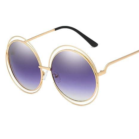 SJY Gafas de Sol HD Lens Marco de la Personalidad Gafas de ...
