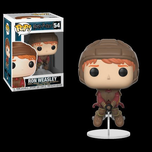 Funko Pop Movies: Harry Potter-Ron on Broom Collectible Figu