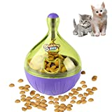 Airsspu Interactive Food Dispensing Cat Toy - Dogs & Cats Increases IQ and Mental Stimulation Pets Treat-dispensing Ball - Squeaky Ball Cat Toy for Small Cats (Cat toys)