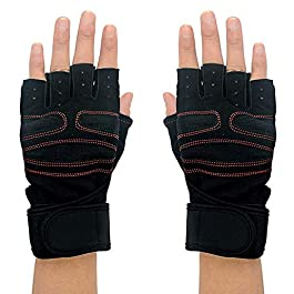 Addmax Bicycle Gloves with Wrist Support Wraps – Mountain Bike Gloves for Cycling Riding Driving Workout Gym Exercise…
