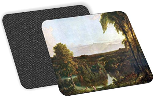 Rikki Knight Thomas Cole Art In the Catskills Design - Soft Square Beer Coasters (x2)