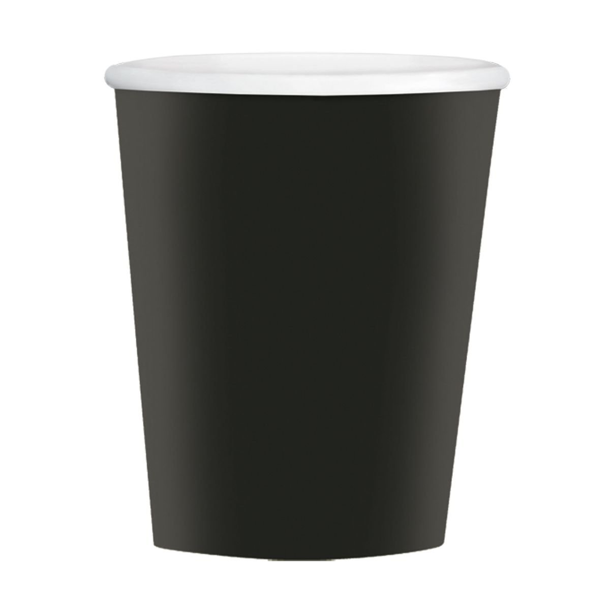 Amscan Disposable Paper Coffee Cups for Hot and Cold Beverages (40 Pack), 12 oz, Jet Black