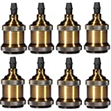 INNOCCY Bronze Lamp Socket E26/ E27 Vintage Industrial Edison Pendant Light Socket Adapter without Switch,Pack Of 8