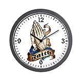 Wall Clock Faith Religious Praying Hands