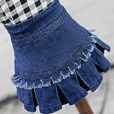 OOEOO Pet Skirt, Cute Short Denim Costume Puppy