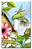 Art Plates - Hummingbird House Switch Plate - Single Toggle