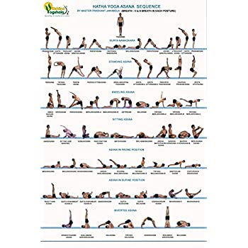 Amazon.com: DNOVING Poster Stylish Art Print Hatha Yoga ...