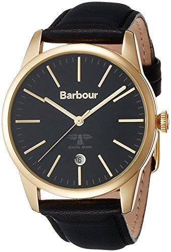 Barbour watch calendar leather strap BB049GDBK
