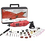 WORKSITE 100 Pieces Rotary Tool Kit with Diamond Cutting Wheels, Engraving Cutters, Sanding Paper, Wire Brush, Grinding Shanks, Sanding Drum, Magnet Wristband, for House-Around and Crafting Projects