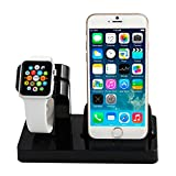 Abusun 2 in 1 Apple Watch Stand Dock iPhone Charging Stand Holder Display Cradle for Apple iWatch/ iPhone 6 / 6 Plus/ 5s/ 5