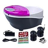 Healcity Elite Plus Panel Control Ionic Detox Foot Bath SPA System Machine + Massager Tub 2 Arrays