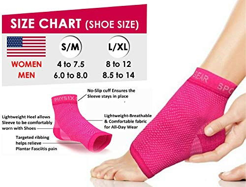 7c1a49bbcd Plantar Fasciitis Socks with Arch Support for Men & Women - Best 24/7  Compression Socks Foot Sleeve for Aching Feet & Heel Pain Relief - Washes  Well, ...