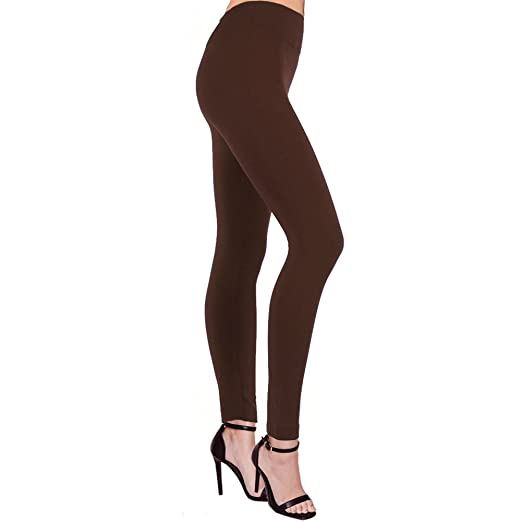 3184bfbcbf2c9 LAVRA Women's Regular Size Fleece Lined Legging-Brown at Amazon ...