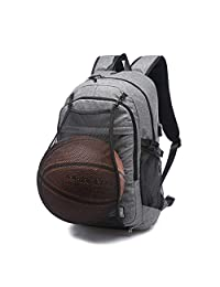 """Business Sports 2 in 1 Laptop Backpack 17"""" with USB Charging Port and Hidden Mesh Pocket (Grey02)"""