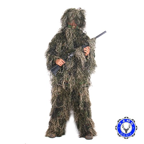 Kamo Basix Woodland Ghillie Suit (Gilly Suits For Kids)