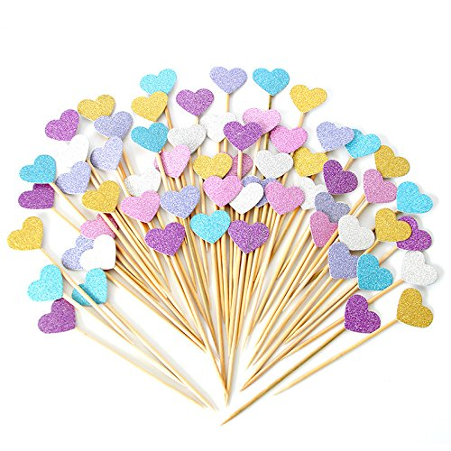 Lanyani Cupcake Valentines Birthday Decorations