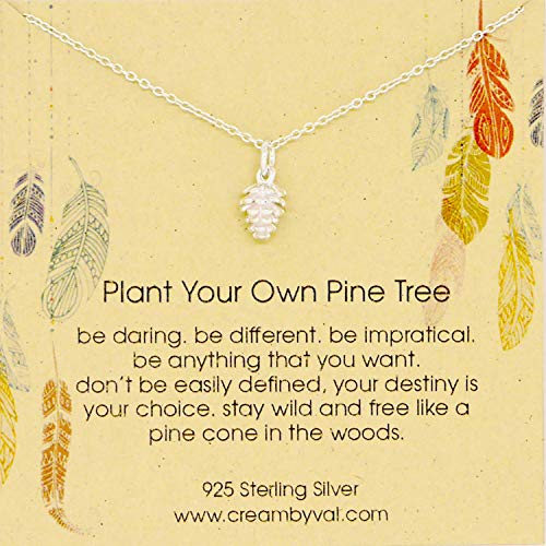 Plant Your Own Pine Cone Tree Sterling Silver Necklace - 17'' Length
