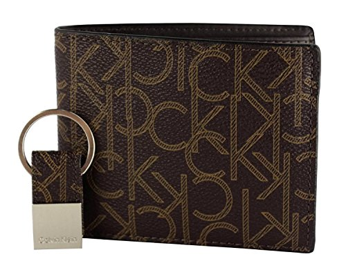 Calvin Klein 79544 Leather Bifold Wallet and Key Fob Set ...