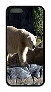 iPhone 5 5S Case Polar Bear 3 Animal TPU Custom iPhone 5 5S Case Cover Black