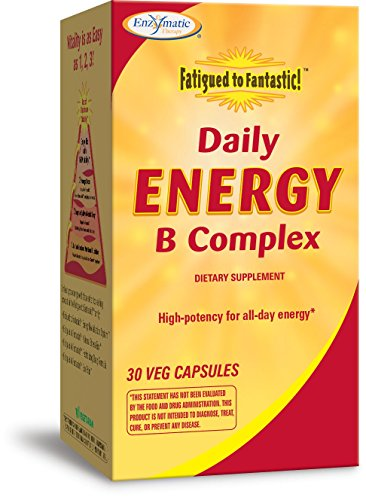 Enzymatic Fatigued to Fantastic Daily Energy B Complex High Potency for All-Day, 30 Count