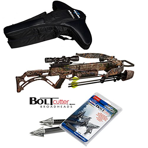 Excalibur Matrix Bulldog 400 Crossbow Package with upgraded TWILIGHT DLX Scope - Case & Bolt Cutter (Excalibur Crossbow Case)