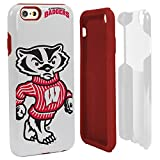 NCAA Wisconsin Badgers Hybrid IPhone 6 Case, White, One Size