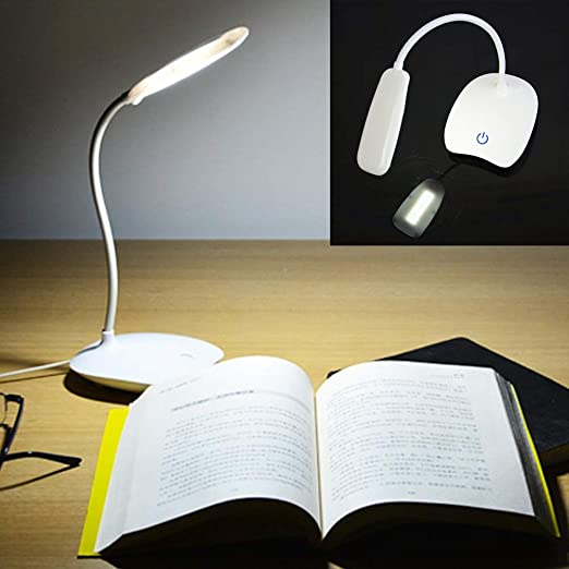 FGART Lampara Escritorio LED USB Light Cuidado del Ojo 3 Brill ...