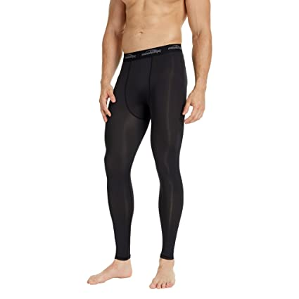 f97bf4c0a87 COOLOMG Mens Compression Pants Baselayer Cool Dry Sports Pants Leg Tights  for Men Boys Youth Black