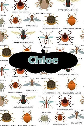 Chloe: Bug Insect Journal notebook 120 pages 6