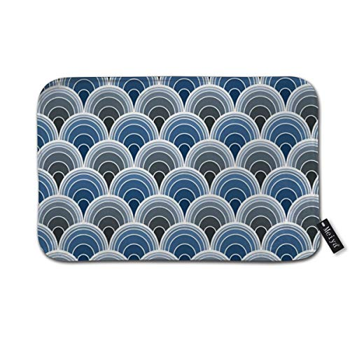 Dadi-Design Art Deco Moody Blue Scallop Fans Door