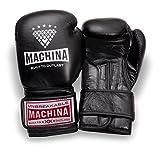 Machina Carbonado 12 OZ Womens Training Gloves - Black Artificial Leather