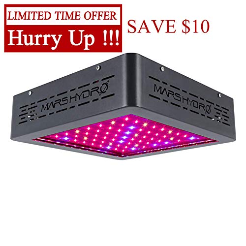 MARS HYDRO MarsII 400W Led Grow Light Full Spectrum Growing Lamps for Greenhouse Indoor Plants Veg and Flower Hydroponics