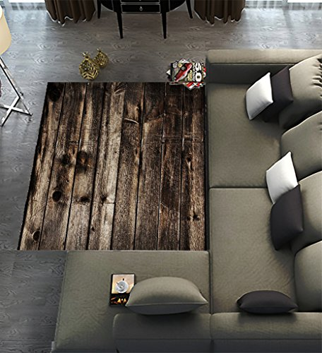 - Floor Rugs Mat,Custom Rustic Old Barn Wood Area Rugs Carpet Modern Carpet for Home Dining Room Playroom Living Room Decoration Size 7'x5'