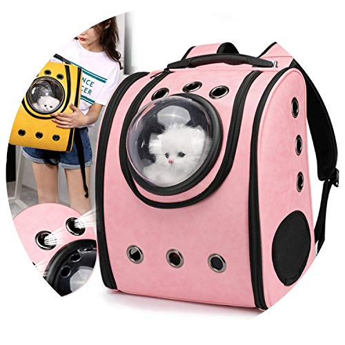 pet Puppy cat Bag pet Space Capsule Dog Travel Carrier Space Leather Capsule pet Dog Carrier Backpack Sports outdo,Gold,L ()