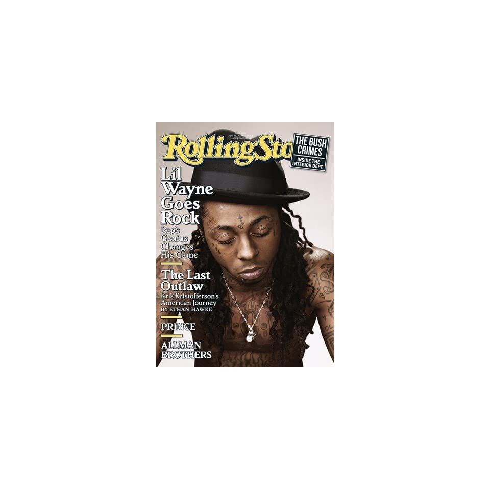 Lil Wayne, 2009 Rolling Stone Cover Poster by Peter Yang (9.00 x 11.00)