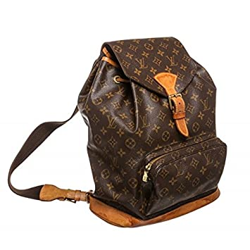 a2546f96f8b3 Louis Vuitton Pre-Owned Monogram Canavs Leather Montsouris GM Backpack Bag   Amazon.co.uk  Luggage
