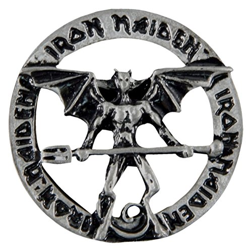 Old Glory Iron Maiden - Unisex-Adult Iron Maiden - Devil Pewter Pin Silver