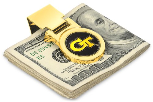 Georgia Tech Yellow Jackets Spring Loaded Money Clip