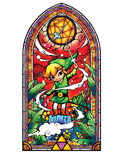 (BLIK Zelda Wind Waker Silver Stained Glass Removable Wall Decal | Officially Licensed Nintendo Art | Easy Peel and Stick Design | 22.5 x 42.5 Inches)